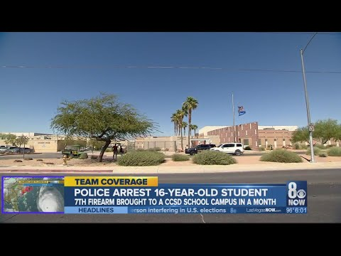 Police: Student arrested at Desert Rose High School for possession of gun