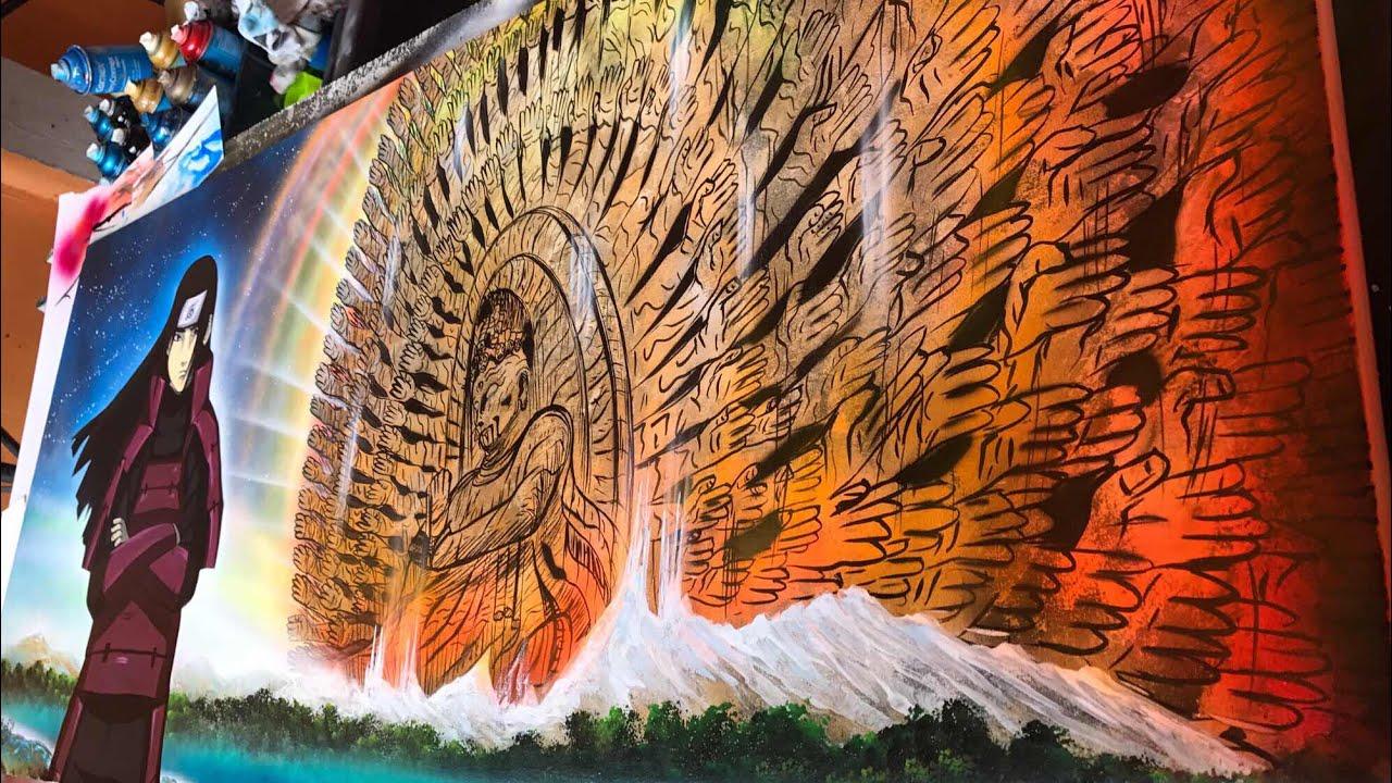 Naruto spray paint art & Naruto spray paint art - YouTube