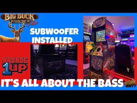 ARCADE1UP BIG BUCK HUNTER WITH A SUBWOOFER from GameMom77