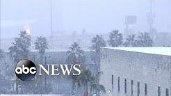 Rare snow falls in California ahead of Oscars