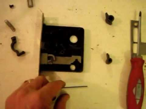 Old Mortise Lock Door Hardware: Step #2   Taking Apart The Lock