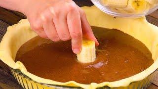 Шоколадный Тарт С Бананом И Карамелью: Невероятно Вкусный Рецепт