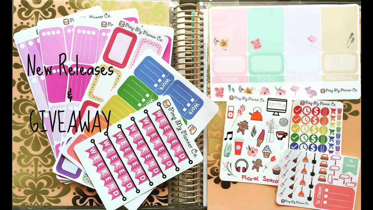 ♛ Planner Sticker New Releases & Giveaway 手帳本貼紙新品&贈禮活動(已結束 Closed) - YouTube