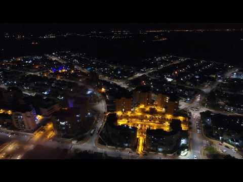 כמה יפה העיר שדרות בלילה