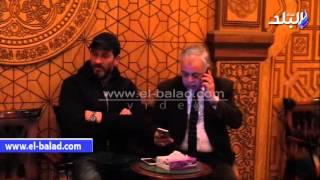 بالفيديو.. أشرف زكي وماجد المصري وحمدي رزق في عزاء «عصام التوني»