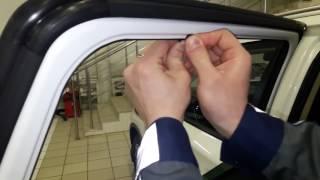 Установленные шторки Chiko ( крупнозернистая )  на Mitsubishi Outlander 3