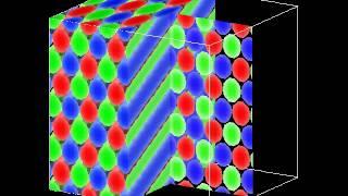 高分子3成分星型ブロックコポリマーによるミクロ相分離構造シミュレーション