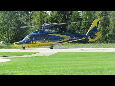 Download Survival Flight lifting from MidMichigan Medical Clinic ////// More Flight info in Description /////