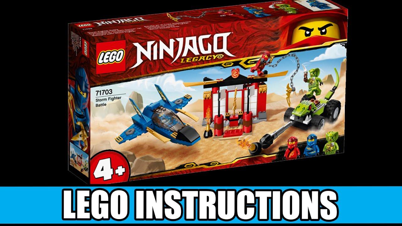 Lego Instructions How To Build Lego Storm Fighter Battle 71703 Lego Ninjago Youtube