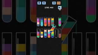Water Color Sort Level 463 Solution WalkThrough Gameplay screenshot 3