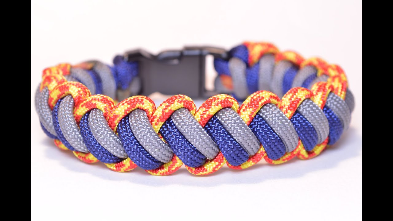 Make the 'Modified Curling Millipede' Paracord Survival Bracelet -  BoredParacord
