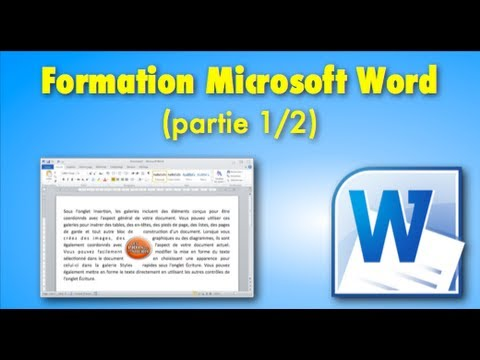 Cours / Formation Microsoft Word (partie 1/2)