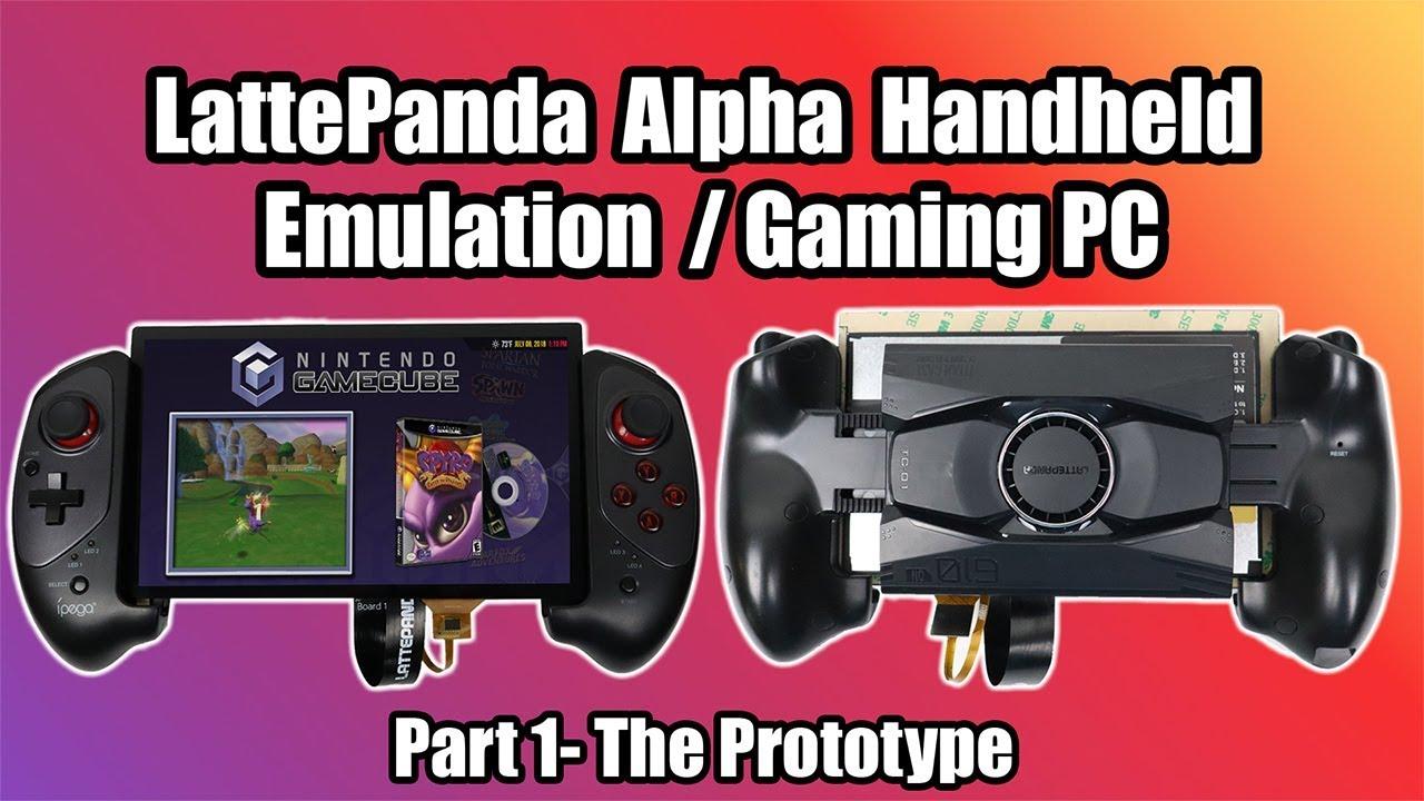 Portable LattePanda Alpha Handheld Emulation/ Gaming Machine