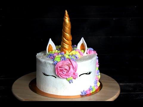 Торт Единорог / Торт Единорожка / Unicorn Cake - YouTube