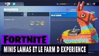 FORTNITE - SAUVER LE MONDE - MINI LAMA ET LE FARM D EXPERIENCE !