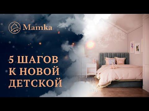 ☝ Дизайн проект детской  «Mamka™» ⚡ Мебель под заказ в Москве и МО