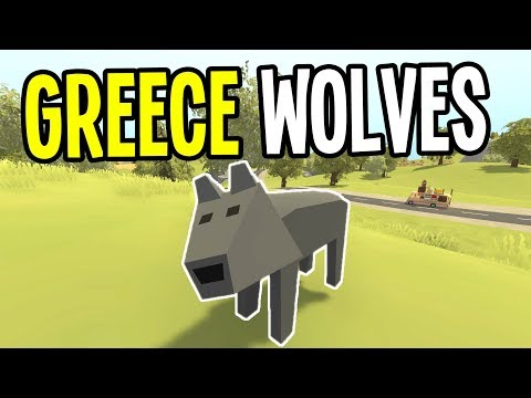 Unturned - MAULED by WOLF in GREECE - Greece Map Survival - Episode 4