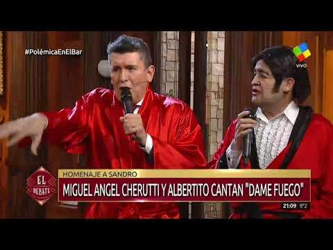Cherutti y Albertito homenajearon a Sandro