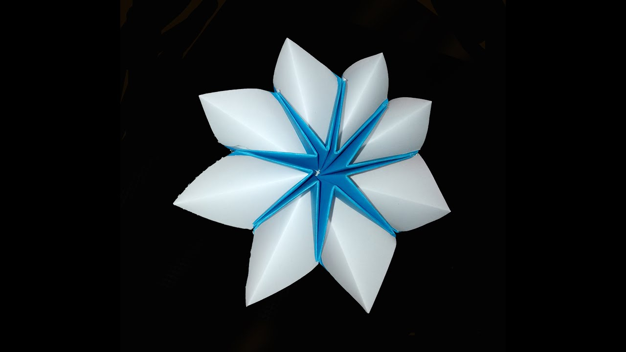 Easy origami star flower for decor and fashion jewelry christmas easy origami star flower for decor and fashion jewelry christmas star youtube mightylinksfo