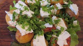 Вкусная молодая картошка с сыром и зеленью.  Как приготовить. // Олег Карп