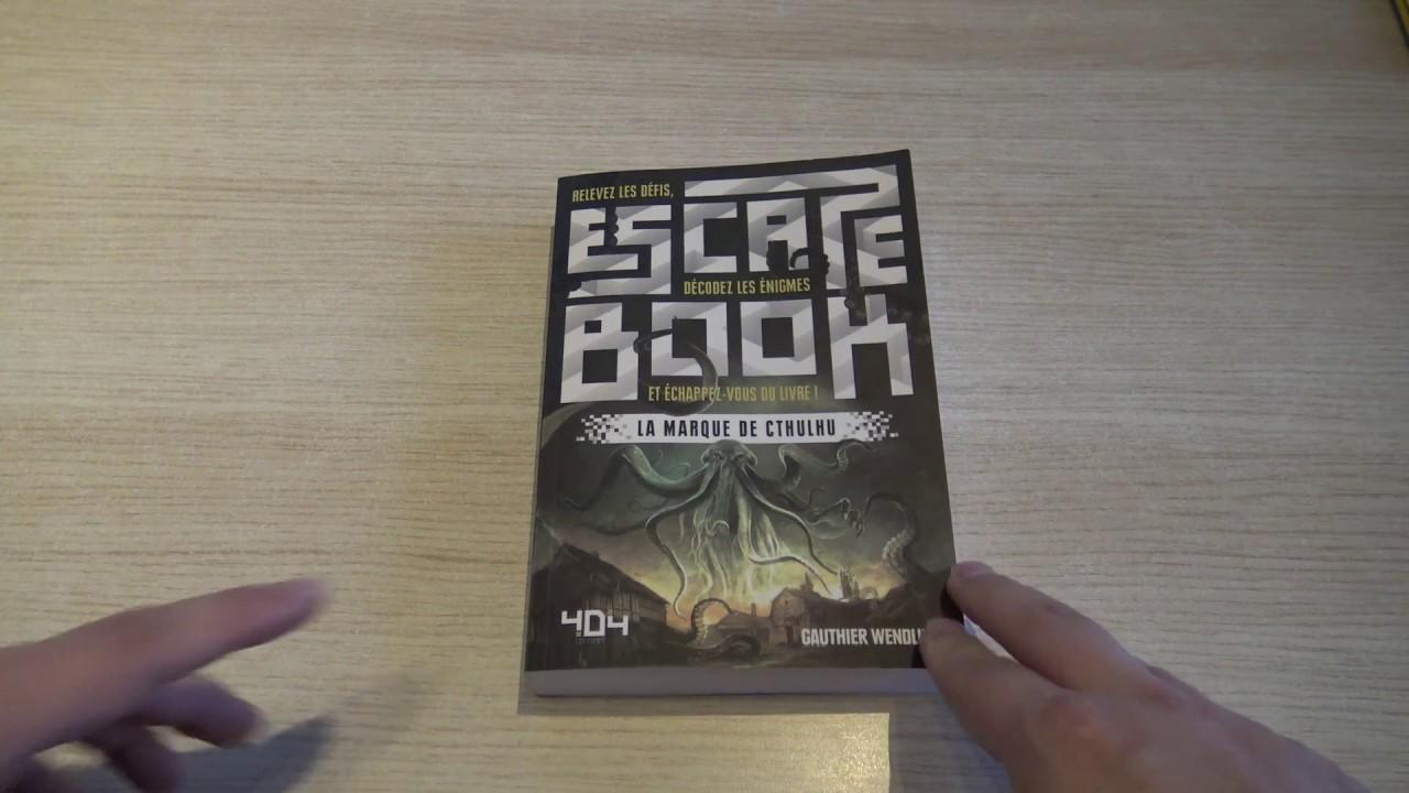 La Marque De Cthulhu Escape Book Editions 404 Notre Test Video Fr N Gamz