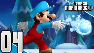 New Super Mario Bros. U -  Part 4 - Frosted Glacier 1/2 (4 Player)