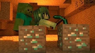 Monster School: Girls vs Boys Mining Challenge - Minecraft Animation