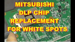 mitsubishi white dots spots dlp chip ic replacement