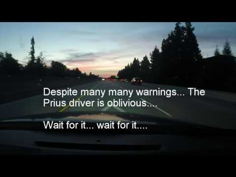 Bay Area Fail Driving Presents: Toyota Prius pulled over for no lights on