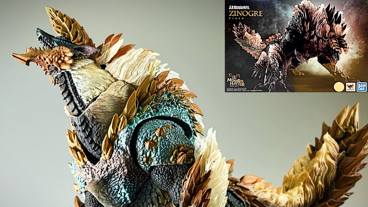 7/31発売!【モンハン】S.H.MonsterArts ジンオウガ モンスターハンター サンプルレビュー/SHMA Zinogre Monster Hunter unboxing review