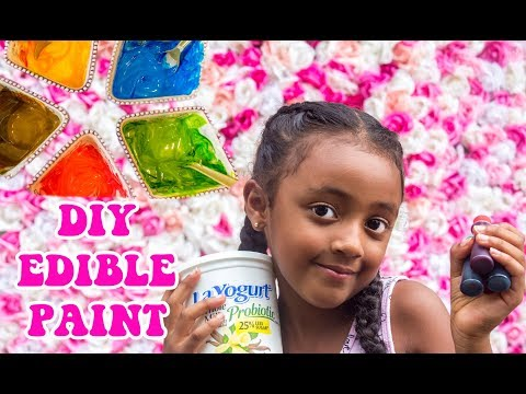 Edible Paint Art | Tutorial | Sarai's Video | DIY