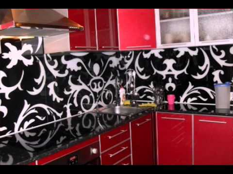 Стекляные фартуки для кухни