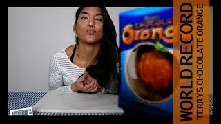 WORLD RECORD Terrys Chocolate Orange Challenge  Girl Vs Food
