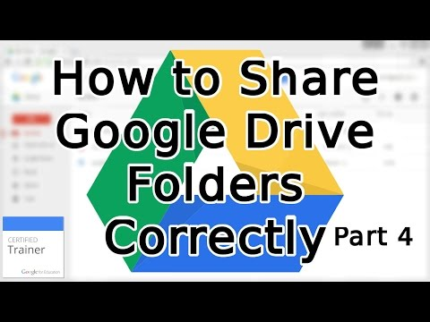 Tutorial: How to Share Google Drive Folders and Share Permissions (2015)