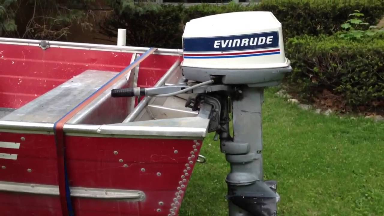 LOWE LUNKER V 1983 ALUMINUM BOAT And 1981 25HP EVINRUDE OUT
