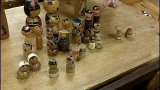 Vintage Asian Dolls, Wooden Japanese Kokeshi Dolls, Gannon's Antiques & Art