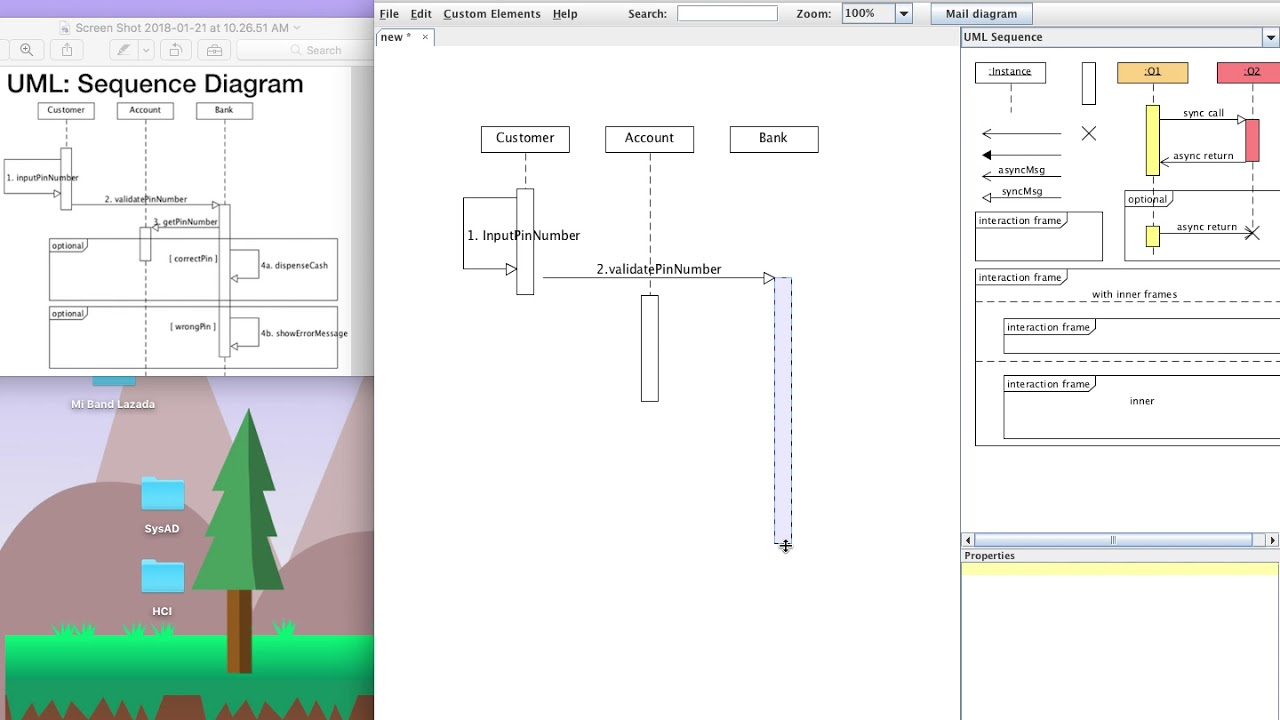how to draw uml sequence diagram with umlet [ 1280 x 720 Pixel ]