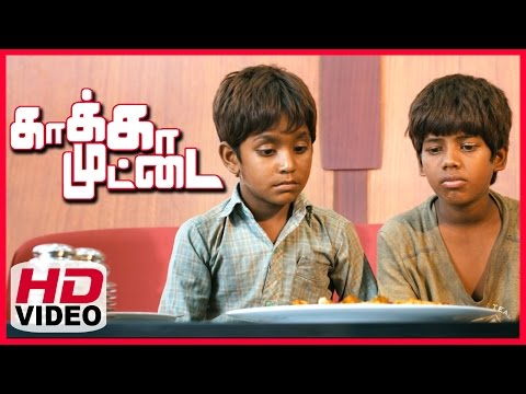Kaakka Muttai Tamil Movie | Climax Scene | Vignesh And Ramesh Having Pizza