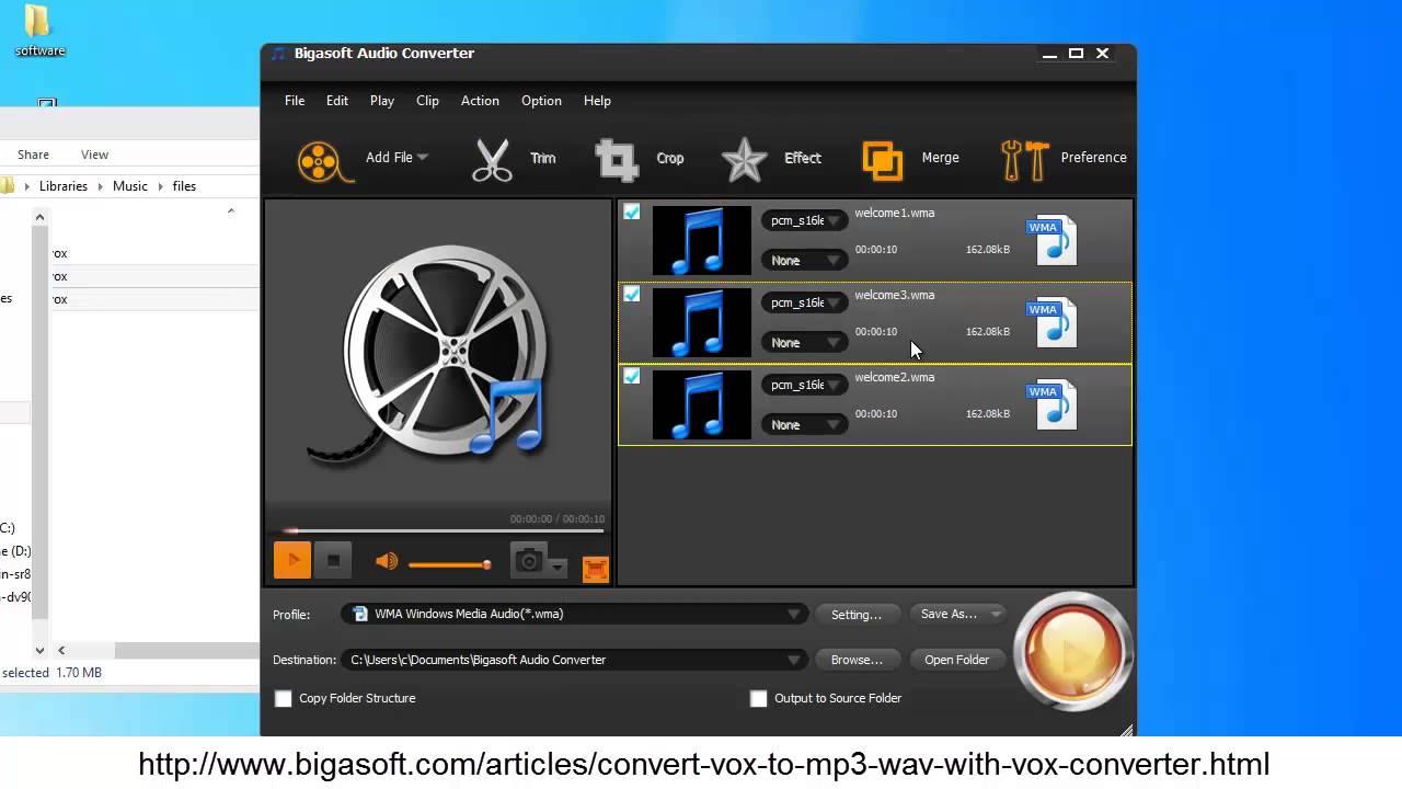 Convert VOX Files To MP3 WAV WMA M4A