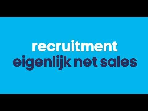 voorzet: Recruitment. Eigenlijk net Sales!