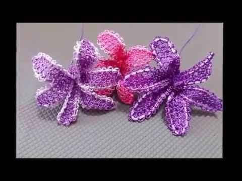 İğne Oyaları Sümbül Çiçeği Yapımı