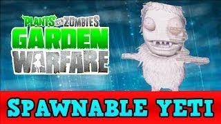 Plants vs Zombies Garden Warfare SPAWNABLE YETI + FUTURE ABILITIES thumbnail