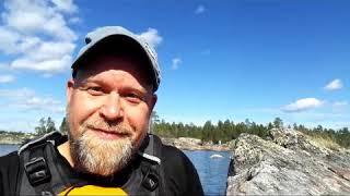 Kayaking in Inari, Lapland 2018