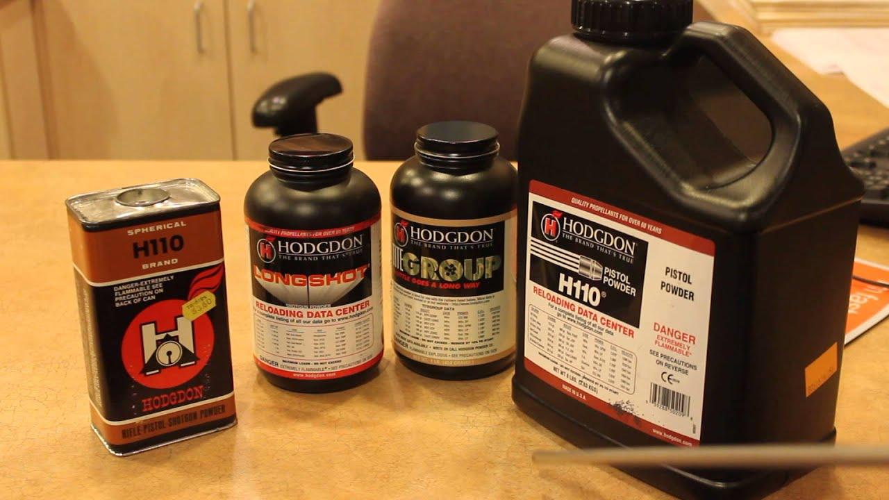 H110 Gunpowder, Bruce Hodgdon and The Precision Reloading Company