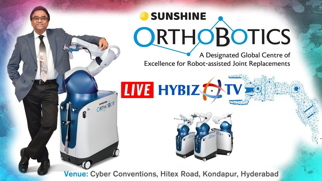 Sunshine Orthobotics | Robot assisted joint Replacement Surgery | LIVE #Orthopedicsurgery