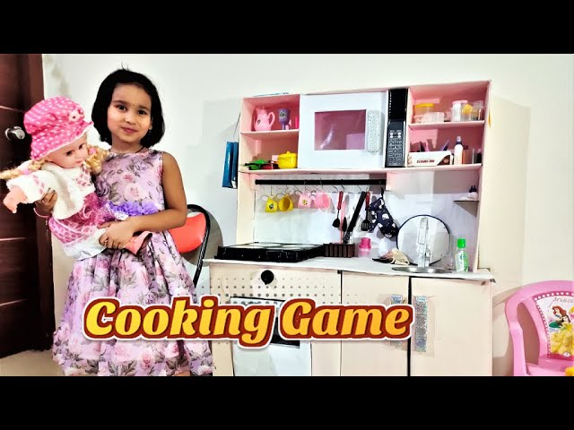 Cooking game in Hindi PART 3| Playing with Kitchen Set in Hindi | Play Fun Cooking  / #LearnWithPari
