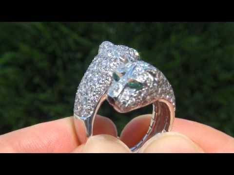 jewelry de tsavorite re diamond panther jaguar cartier garnets rings emerald id gold yellow ring band panth more j panthere onyx master