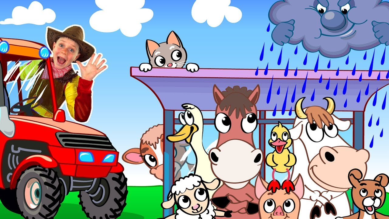 Animals in the tractor | Wheels On The Bus Song | Nursery Rhyme by Be Be Kids