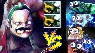 Magic Team? No Problem! Pudge with Double Pipe of Insight by ZipFile Impossible Hook Dota 2