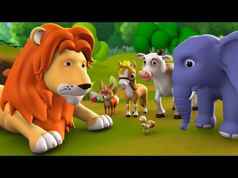 Jungle Ka Raja Sher 3D Animated Hindi Moral Stories For Kids जंगल का राजा शेर कहानी Tales Lion King
